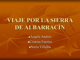 VIAJE POR LA SIERRA DE ALBARRACÍN