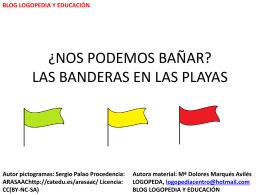LAS BANDERAS EN LAS PLAYAS