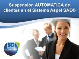 Suspensión AUTOMATICA de clientes en el Sistema