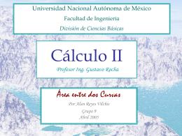 Cálculo II - DIVISIÓN DE CIENCIAS BÁSICAS