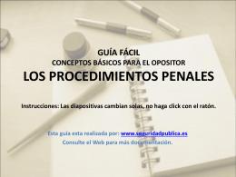 CONCEPTOS BÁSICOS PARA EL OPOSITOR