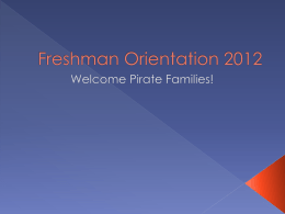 Freshman Orientation 2012