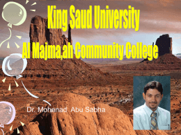 الشريحة 1 - Home - KSU Faculty Member websites