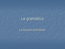 La gramática - Palatine High School | Home of the