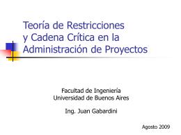 Administración de Proyectos usando Critical Chain
