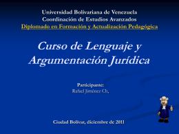 Curso de Lenguaje y Argumentación Jurídica