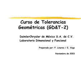 """Curso Básico de Tolerancias Geométricas """" GD&T"""""""