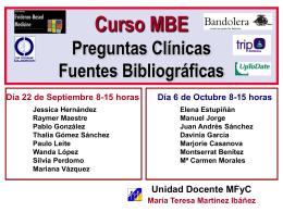 Curso MBE Preguntas Clínicas Fuentes