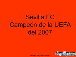 Sevilla FC Campeón de la UEFA del 2006