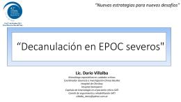 Decanulación en EPOC severos`