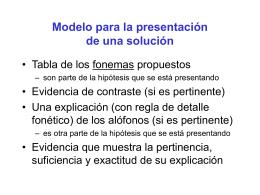 Modelo para la presentación de una solución