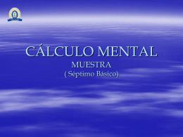 CÁLCULO MENTAL (Modelo)