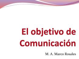 El objetivo de Comunicación