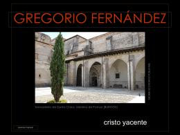 CRISTO YACENTE de Gregorio Fernández
