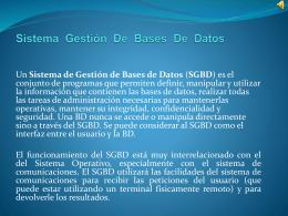 Sistema Gestión De Bases De Datos