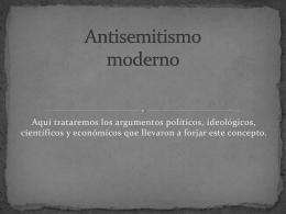 Antisemitismo moderno