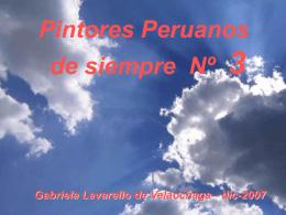 PINTORES PERUANOS Nº 3