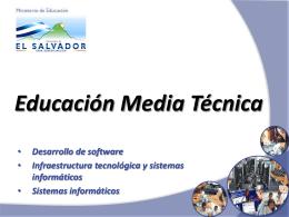 OFERTA EDUCATIVA EDUCACIÓN MEDIA TÉCNICA