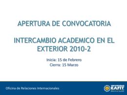 PROCEDENCIA DE LOS ESTUDIANTES EXTRANJEROS