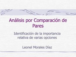 Análisis por Comparación de Pares