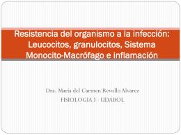 Resistencia del organismo a la infección: