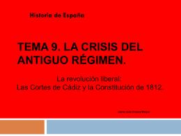 Tema 9. La Guerra de la Independencia y la