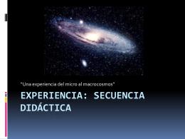 Experiencia: Secuencia Didáctica