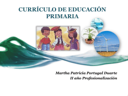 CURRÍCULO DE EDUCACIÓN PRIMARIA