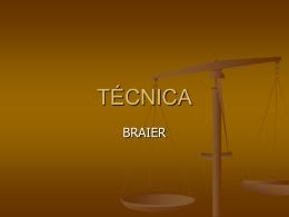 TÉCNICA - Principios de Psicoterapia