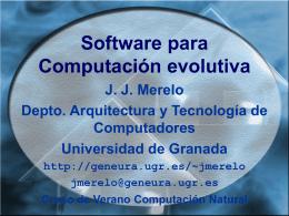 Software para Computación evolutiva