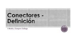 Conectores - Definición
