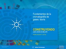 Fundamentos de la cromatografía de gases: teoría