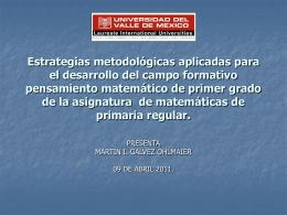 Estrategias metodológicas aplicadas para el