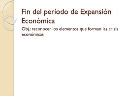 Fin del período de Expansión Económica
