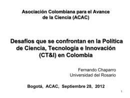 Diapositiva 1 - Asociación Colombiana para el