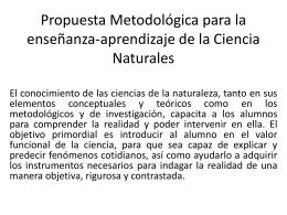 Propuesta Metodológica para la