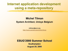 Internet application development using a