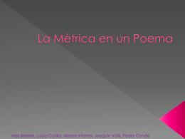 La Métrica en un Poema