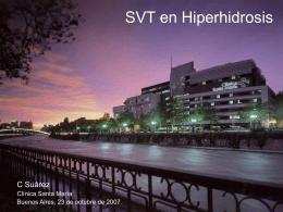 Simpatectomía por video en hiperhidrosis de