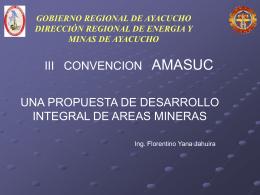 """PROYECTO: """"PRODUCCIÓN DE ARTESANIA DE MINERALES NO"""