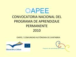 CONVOCATORIA NACIONAL DEL PROGRAMA DE APRENDIZAJE