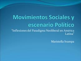 Movimientos Sociales y escenario Político