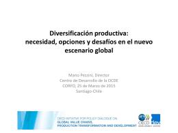 Diversificación productiva: necesidad, opciones y