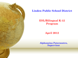 Linden School District Administrators' Meeting