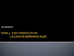 TEMA 3. EJES TEMÁTICOS EN LA CASA DE BERNARDA ALBA