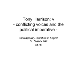 Tony Harrison: v