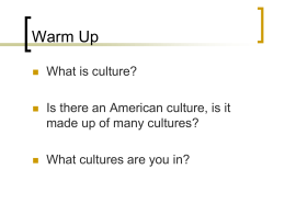 The Basis of Culture