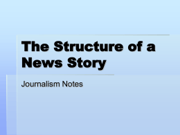 The Structure of a News Story - Tri