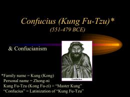 Confucius (Kung Fu Tzu) (551