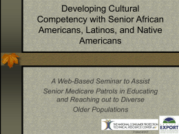 Developing Cultural Competency with Senior African